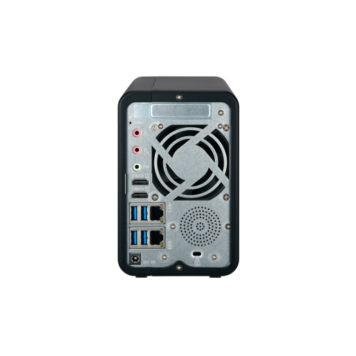 QNAP NAS Tower, TS-253B-4G, 2-Bay NAS, Intel Celeron J3455 quad-core 1.5GHz, 4GB DDR3L SODIMM RAM, 2xGbE, AES-NI encryption, 4K hardware transcoding, OLED display + touch buttons
