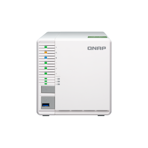 QNAP NAS Tower, TS-332X-4G, 3-Bay NAS, AL324 64-bit quad-core 1.7GHz, 4GB DDR4 SODIMM RAM, 1 x 10GbE SFP+ LAN, 2 x GbE LAN,  hardware encryption