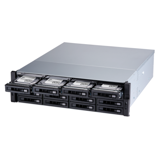QNAP NAS 3U, TVS-1672XU-RP-i3-8G, 16-Bay NAS, Intel® Core™ i3-8100 3.6 GHz, 8 GB UDIMM DDR4, 4 GigaLan, 2 x 10GbE SFP+, 500W Redundant Power Supply