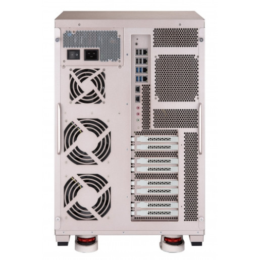 QNAP NAS Tower, TS-2888X-W2145-128G, 28-bay AI NAS, Intel® Xeon® Processor W-2145 8 core 3.7 GHz, 128GB DDR4 ECC, 4-LAN, built-in 2 x 10GBASE-T,  2000W single power supply