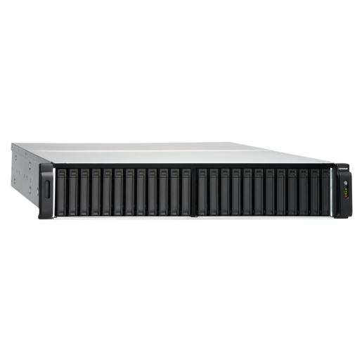 QNAP NAS 2U, TES-3085U-D1531-16GR, 24 (+6)-Bay TurboNAS, Intel® Xeon® D-1531 2.2 GHz, 16GB ECC  RAM, 4-LAN, built in 2 x 10Gb SFP+, Redundant Power Supply