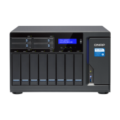 QNAP NAS Tower, TVS-1282T3-i7-32G, 12-Bay TurboNAS, Intel Core™ i7-7700 3.6 GHz, 32GB RAM, 4-LAN, 2x 10Gbase-T, 4x Thunderbolt 3 port, single power supply