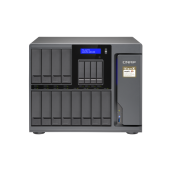 QNAP NAS Tower, TS-1677X-1700-64G, 16-Bay NAS, AMD Ryzen 7 1700 8-core 3.0GHz, 64GB DDR4 RAM, 4xGbE LAN, 2 x 10GBASE-T, single power supply
