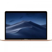 Laptop Apple New MacBook Air 13 with Retina True Tone, Intel i5-8210Y, 13.3inch, RAM 8GB, SSD 128GB, Intel UHD Graphics 617, MacOS Mojave, Gold